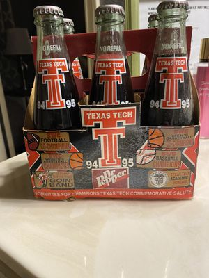 Southwest Conference Texas Tech Dr Pepper bottles Marsha Sharp for Sale in US