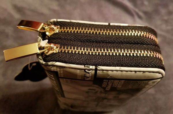 CELLINIAGE FASHION HANDBAGS DOUBLE GOLD ZIPPER HOLLYWOOD STARS NEW WITH TAG 👝👝