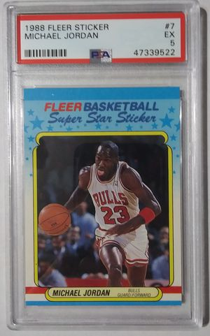 1988 Fleer Sticker Michael Jordan PSA 5 for Sale in McCook, IL