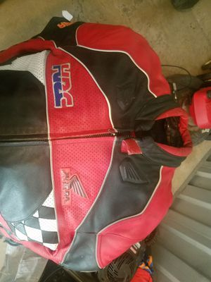 Honda leather motorcycle jacket size 50 for Sale in Silver Spring, MD