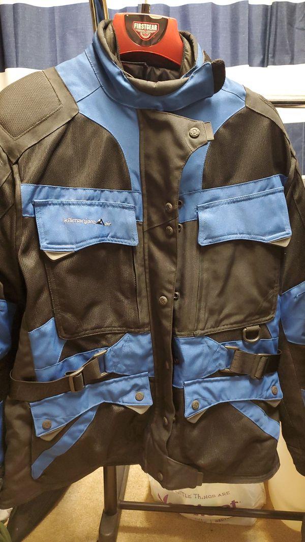 Motorcycle riding gear. FirstGear Kilimanjaro Air blue/black