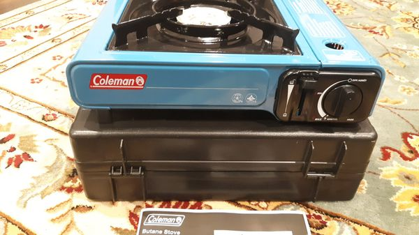 COLEMAN Butane Stove INSTASTART With Carry Case One Burner Camping Outdoor NEW. Also, PLEASE check my other listing items, thanks!