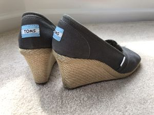 Toms Wedges, Grey for Sale in Chantilly, VA