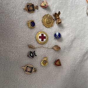 Group Assorted Pins Brooches Pendants Charms GF Plated for Sale in Orange, CA