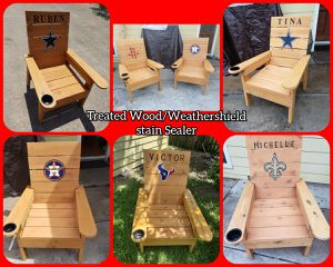 Custom Patio Furniture / Chairs / Tables / Benches / Cap Racks for Sale in Pasadena, TX