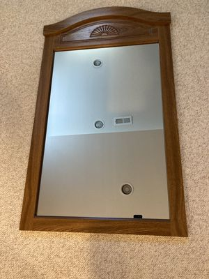 Wall mirror with wooden frame for Sale in Farmington Hills, MI