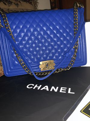 Electric Blue Chanel bag $650 or BEST OFFER PAPERWORK INCLUDED for Sale in Atlanta, GA