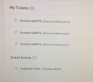 Thomas Rhett Pit Tickets for Sale in Charlottesville, VA