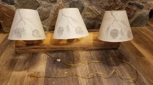Rustic log vanity/wall sconce light fixture for Sale in Gig Harbor, WA