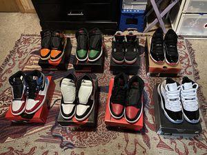 Jordan 1 Retro High NC to Chi Leather, Jordan 11 Retro Playoffs Bred, Jordan 11 Retro Concord, etc. for Sale in Adelphi, MD