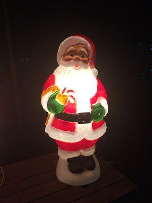 "Dark Skinned Santa Blow Mold. 32"" tall for Sale in Austin, TX"