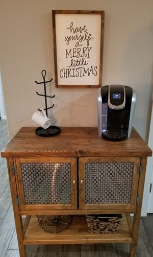Farmhouse Coffee Cart/Bar Cabinet for Sale in Vancouver, WA