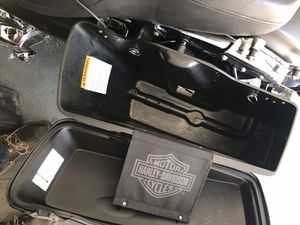 2013 Harley Davidson Rd. glide saddlebags with lids and hardware. for Sale in New York, NY