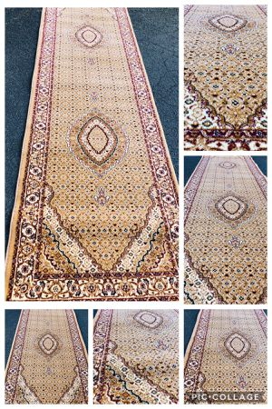 New beige carpet runner size 3x10 nice tan rug hallway runner Persian Tabriz design rugs for Sale in Falls Church, VA