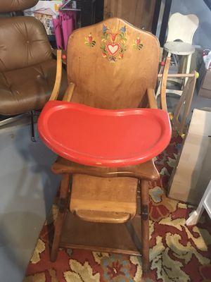 Antique convertible highchair for Sale in Fairfax, VA