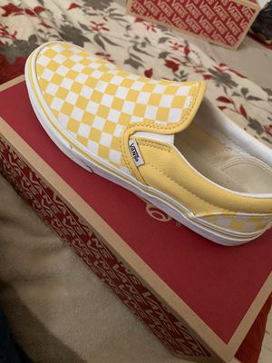 yellow slip on checkerboard vans for Sale in Oklahoma City, OK