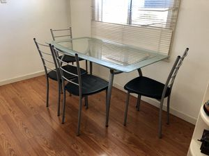 Glass kitchen table and tables for Sale in San Leandro, CA