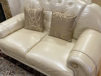 3 Piece Sofa Set, Full Real Leather Italian for Sale in Los Angeles,  CA