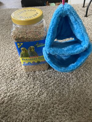 Bird Hammock Brand new with Parakeet seeds for Sale in Woodland, CA