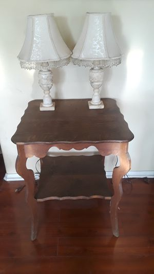 Marble or Alabaster lamps table for sale also for Sale in Chino Hills, CA