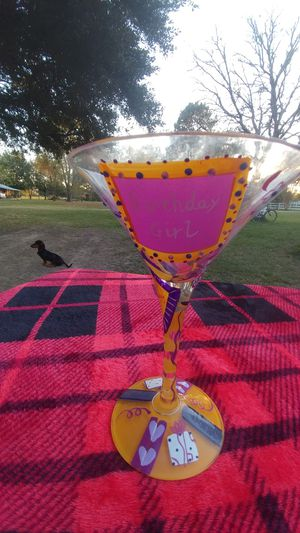 Birthday girl martini glass for Sale in Tomball, TX