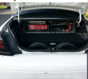 2 Rockford Fosgate 15 Inch Subwoofers, 2500 Wat Amp, Trunk Battery for Sale in Renton, WA