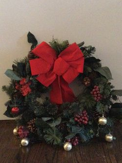 Christmas door wreath- $5 for Sale in Boston,  MA