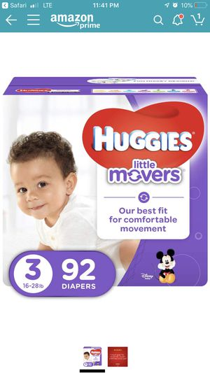 Huggies Little Movers size 3 (92) for Sale in Richmond, VA