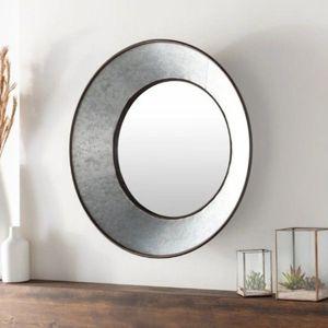 "New 20"" MODERN FARMHOUSE BOHO RUSTIC PRIMITIVE HOME DECOR galvanized metal circle mirror org$200 for Sale in Wrightsville, PA"