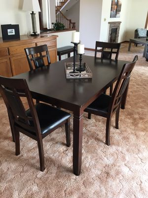 Ashley Furniture - Brand New Staging Dining Table with 4 chairs and bench $275.00 for Sale in Tracy, CA