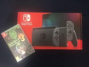 Brand NEW V2 Nintendo SWITCH Luigi's Mansion 3 Bundle with Gray Joy-Con for Sale in Miami, FL