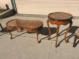 Beautifully carved French coffee and side table for Sale in Whittier, CA