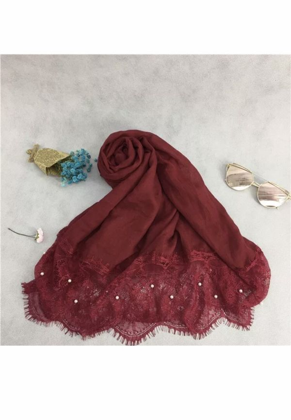 SALE!! Sale!! Sale!! Scarf hijab with pearls GIFT IT FOR YOUR LOVED ONES!! <3