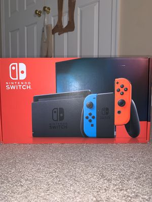BRAND NEW NINTENDO SWITCH V2 CONSOLE with neon red and blue joycons for Sale in Silver Spring, MD