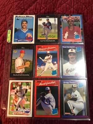 9 baseball rookie cards for $1 for Sale in Beltsville, MD