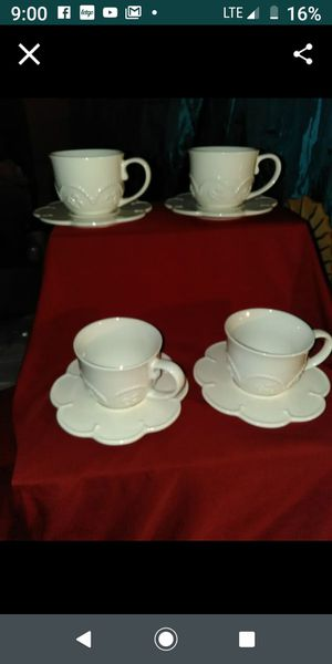 PRINCESS HOUSE. SET DE 4 PLATOS Y. 4 TASAZ PARA TÉ MARBELLA for Sale in Irwindale, CA