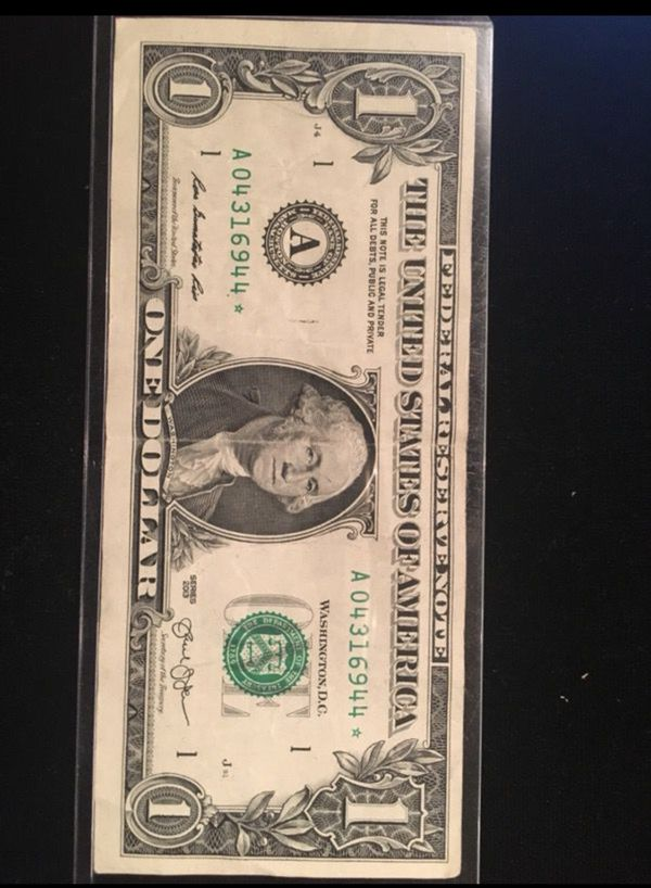 2013 $1 star note *04316944*
