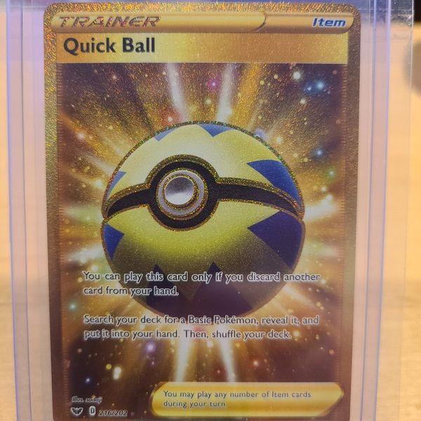 Pokemon Quick Ball Secret Rare