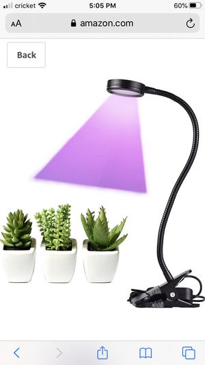Grow your plants/herbs indoor: LED Grow Light 10W Full Spectrum 450nm 660nm Desk Plant Lamp Lihgts with 360° Flexible Gooseneck & Desk Clip-ons for H for Sale in South San Francisco, CA