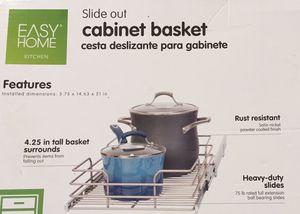 Slide out kitchen cabinet basket for Sale in Cooper City, FL