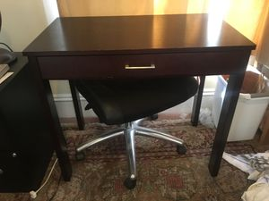 Wooden Desk and office chair for Sale in Seattle, WA