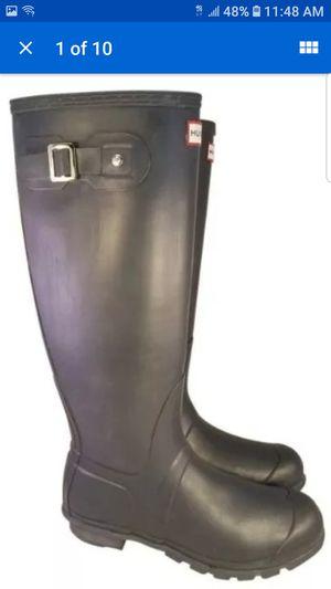 Hunter rain duck charcoal unisex boots man 8/ woman 9 for Sale in Las Vegas, NV