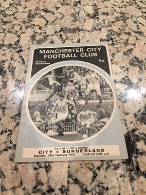 Man City FA Cup official Programme for Sale in Los Angeles, CA