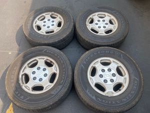 "(4) 16"" Chevy Wheels 255/70R16 Firestone tires - $340 for Sale in Santa Ana, CA"