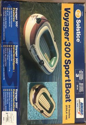 Voyager 300 Inflatable Sport Boat with paddles for Sale in Costa Mesa, CA