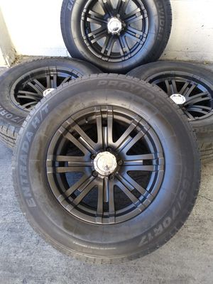 """17"""" off road rims with new tires for Sale in Las Vegas, NV"""
