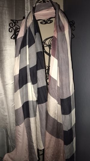 Pink silk Burberry scarf for Sale in Laveen Village, AZ