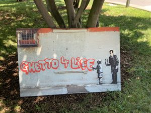"""Banksy's """"Ghetto 4 Life"""" for Sale in Hull, MA"""