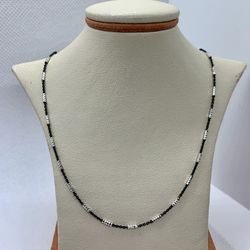 18in Solid Silver Chain (Parts Painted Black) for Sale in Tustin,  CA