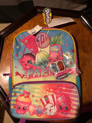 Shopkins Backpack and accessories! for Sale in Belleville, MI